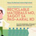 """[Campus News] Brigada Eskwela Project: """"Recyclable Materials Mo, Sagot sa Pag-aaral Ko!"""""""